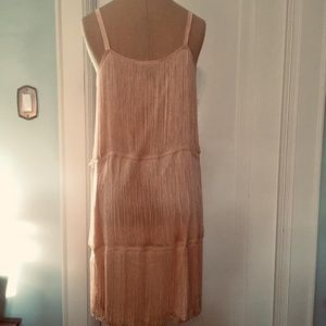 Pink 1920s Flapper Fringe Dress